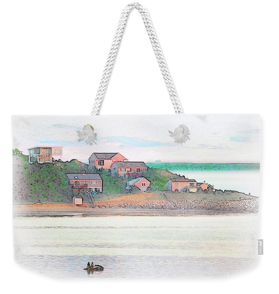 Adrift On The Bay At Sunset Weekender Tote Bag