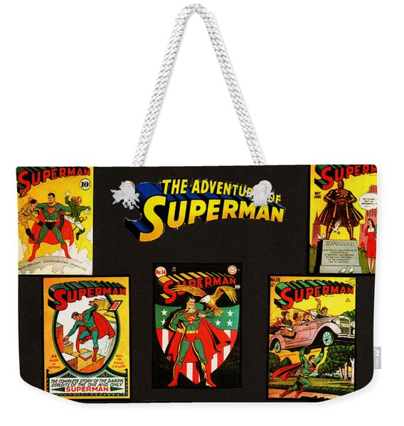 Adventures Of Superman Weekender Tote Bag
