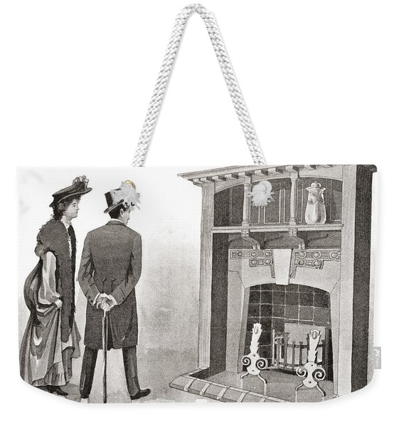 Advertisement For A Fireplace. From The Weekender Tote Bag