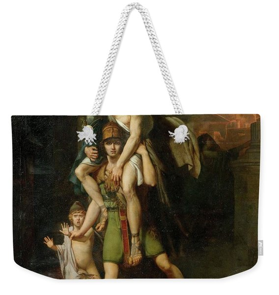 Aeneas Fleeing With His Father Weekender Tote Bag
