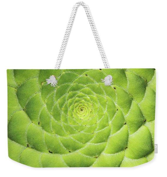 Aeonium Tabuliforme Pattern Weekender Tote Bag
