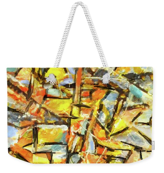 Aerial In Gold Weekender Tote Bag