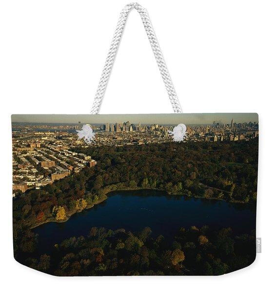 Aerial Of Prospect Park Weekender Tote Bag