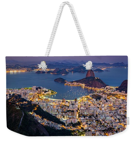 Weekender Tote Bag featuring the photograph Aerial Rio by Mihai Andritoiu