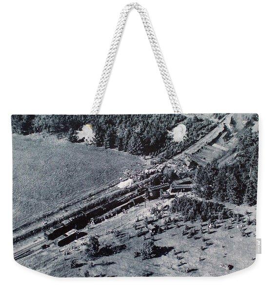 Aerial Train Wreck Weekender Tote Bag
