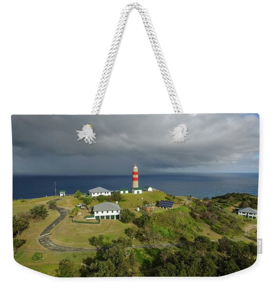 Aerial View Of Cape Moreton Lighthouse Precinct Weekender Tote Bag