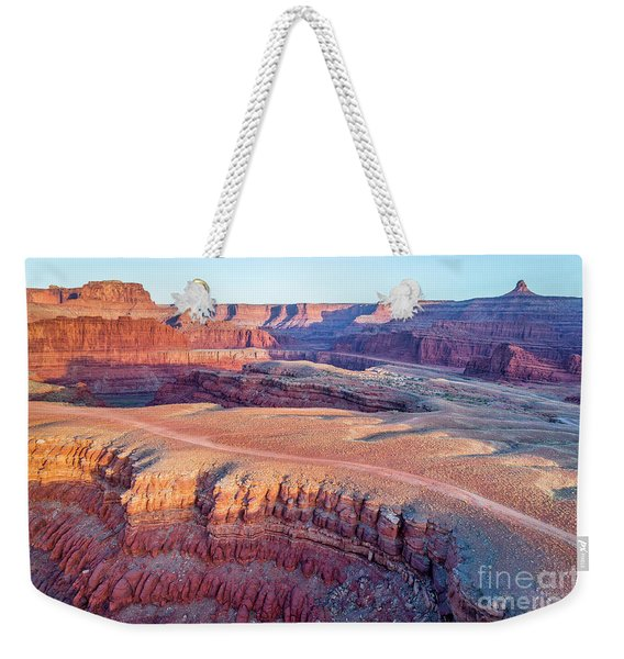 aerial view of Colorado RIver canyon Weekender Tote Bag