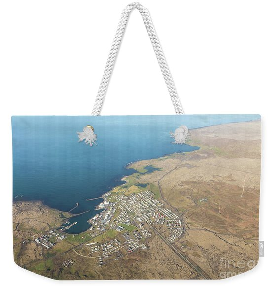 Aerial View Of Iceland South Coast  Weekender Tote Bag