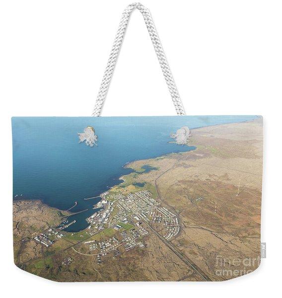 Aerial View Of Iceland South Coast  Weekender Tote Bag