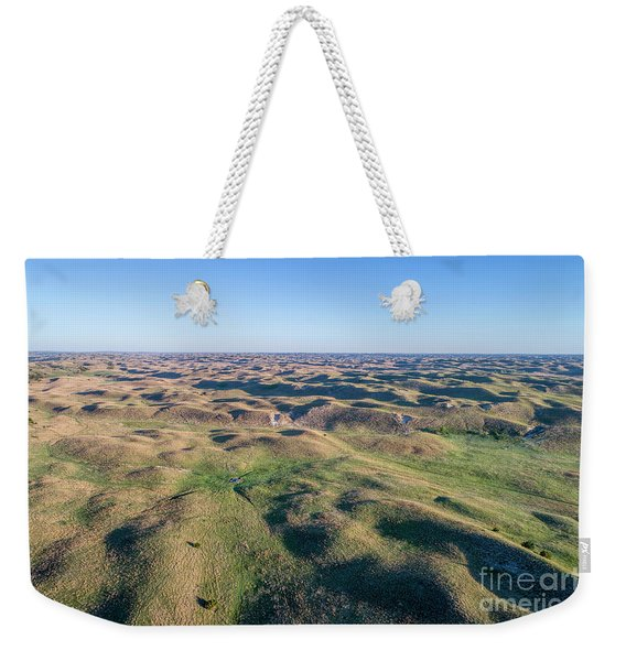 aerial view of Nebraska Sand Hills  Weekender Tote Bag
