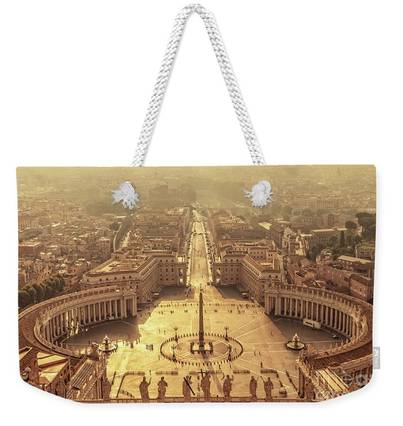 Aerial View Of St Peter's Square Weekender Tote Bag