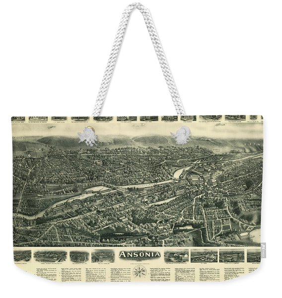 Aero View Of Ansonia, Connecticut Weekender Tote Bag