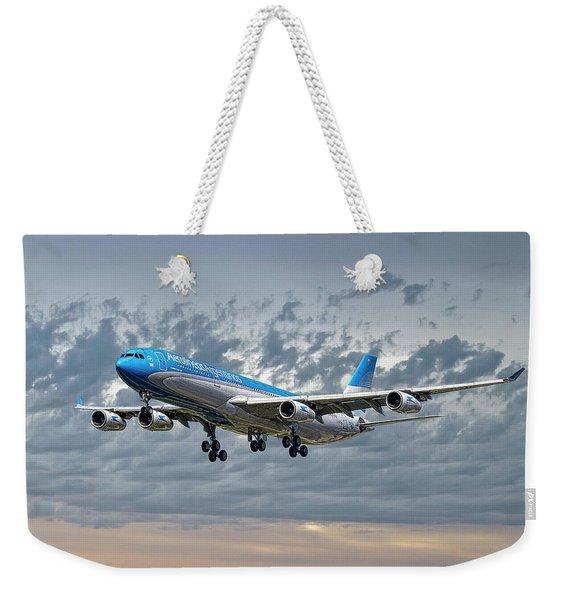 Aerolineas Argentinas Airbus A340-313 Weekender Tote Bag