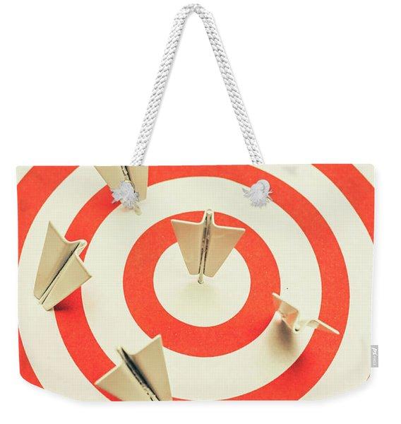Aeroplane Target Pin Board Weekender Tote Bag