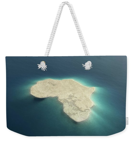 Africa Conceptual Island Design Weekender Tote Bag