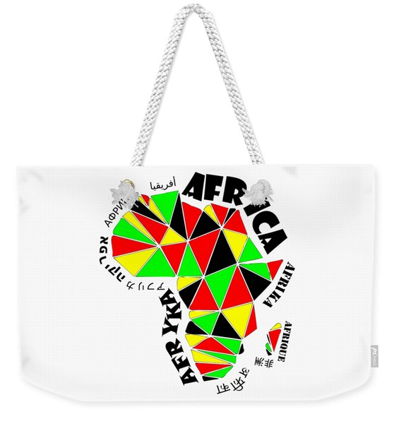 Africa Continent Weekender Tote Bag