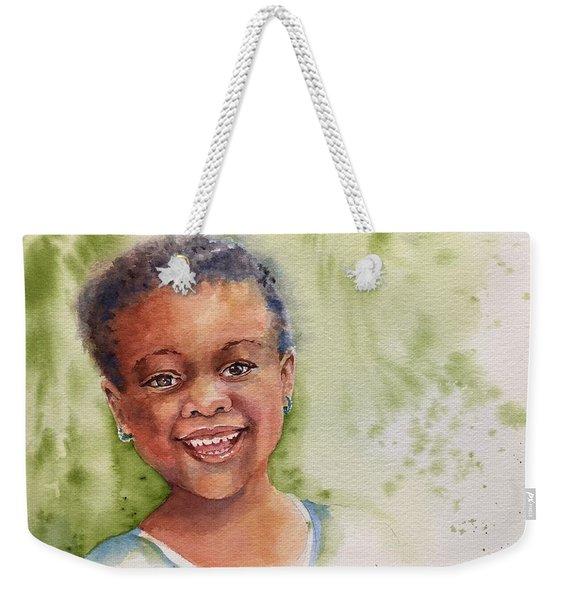 African Girl Weekender Tote Bag