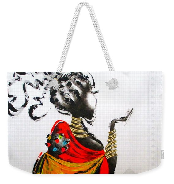 African Lady And Baby Weekender Tote Bag