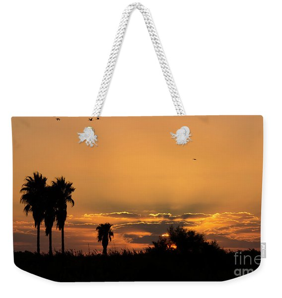 Weekender Tote Bag featuring the photograph  African Style Sunset 02 by Arik Baltinester