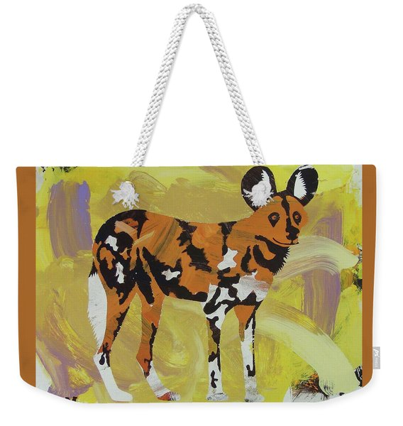 African Wild Dog Weekender Tote Bag