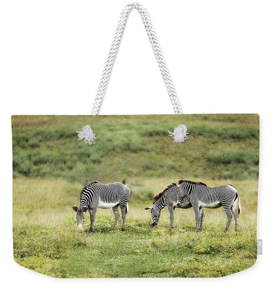 African Zebras Weekender Tote Bag