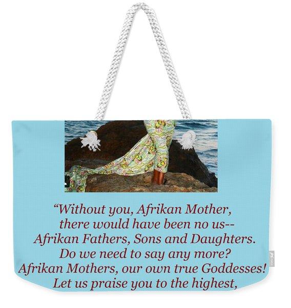 Afrikan Mother Weekender Tote Bag