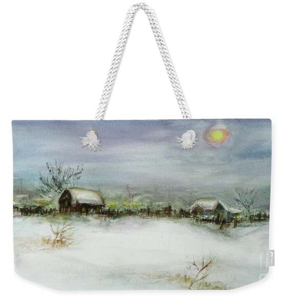 After A Heavy Fall Of Snow Weekender Tote Bag