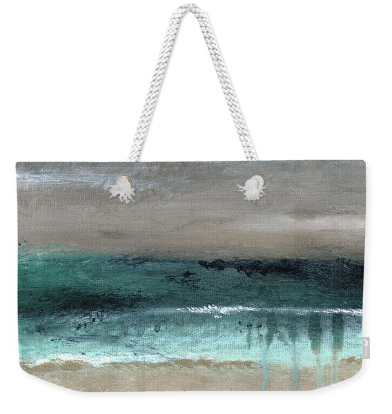 After The Storm 2- Abstract Beach Landscape By Linda Woods Weekender Tote Bag