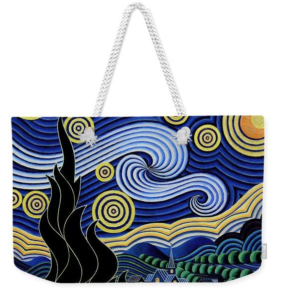 After Van Gogh The Starry Night Weekender Tote Bag