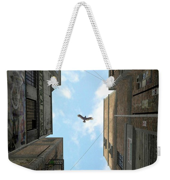 Afternoon Alley Weekender Tote Bag