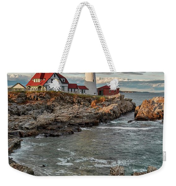 Afternoon Light At Cape Neddick Weekender Tote Bag