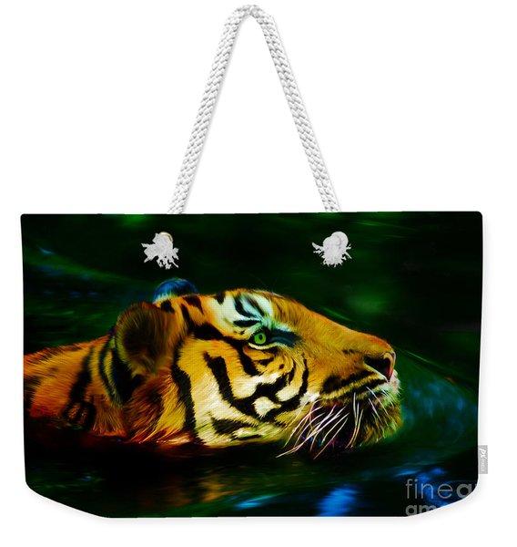 Afternoon Swim - Tiger Weekender Tote Bag