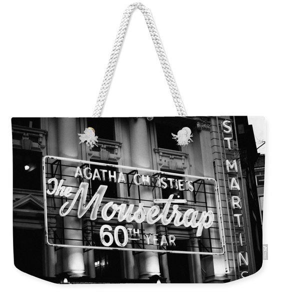 Agatha Christie's The Mouse Trap 60th Anniversary Weekender Tote Bag