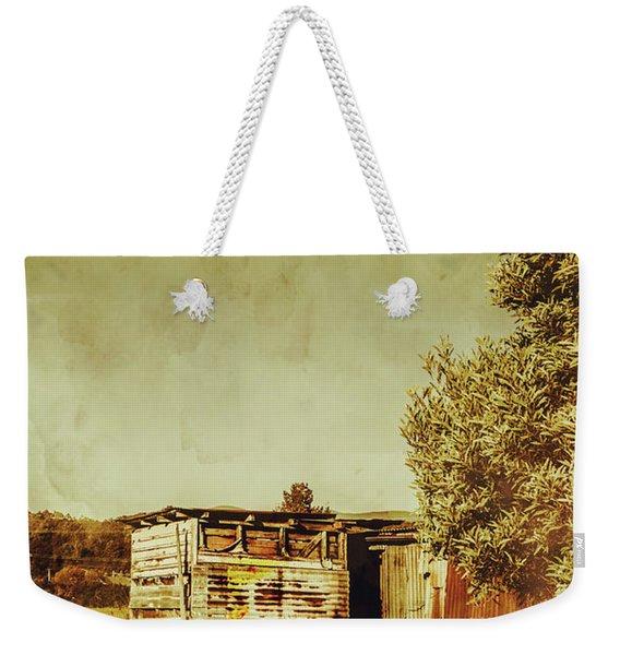 Aged Australia Countryside Scene Weekender Tote Bag