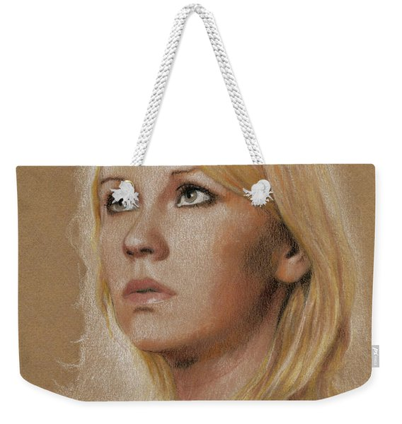 Weekender Tote Bag featuring the photograph Agnetha by Jaroslaw Blaminsky
