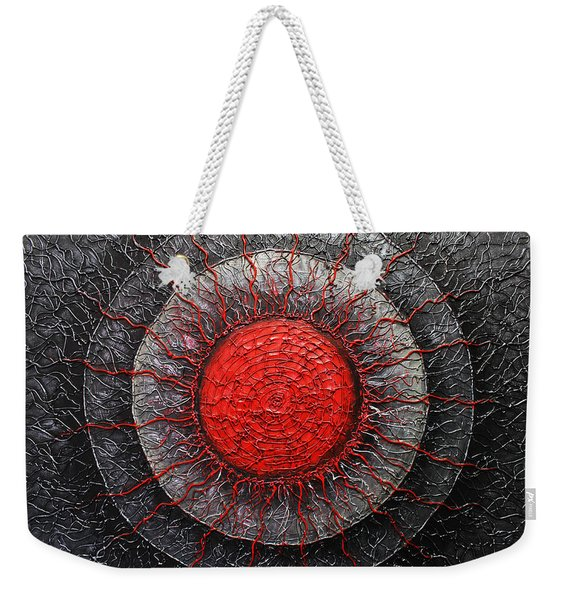 Red And Black Abstract Weekender Tote Bag