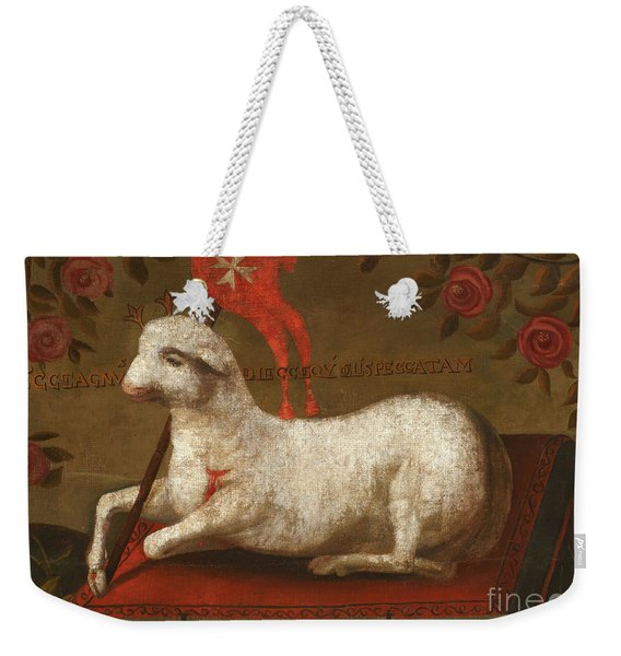 Agnus Dei With Banner Of The Order Of St John  Weekender Tote Bag