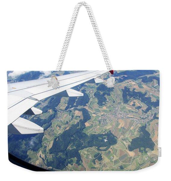Air Berlin Over Switzerland Weekender Tote Bag