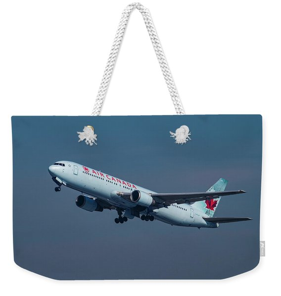 Air Canada Boeing 767 Taking Off From Lax Weekender Tote Bag