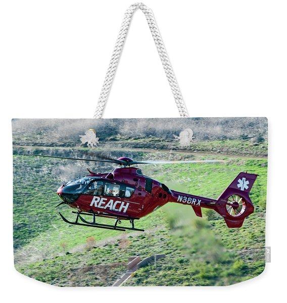 Air Medical Helicopter Weekender Tote Bag