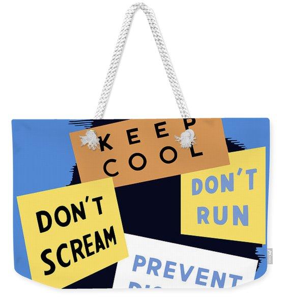 Air Raid Precautions - Ww2 Weekender Tote Bag