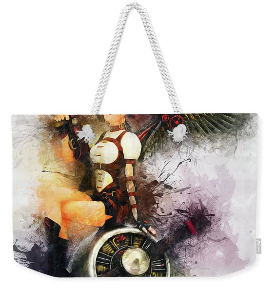 Aircraft Girl Weekender Tote Bag