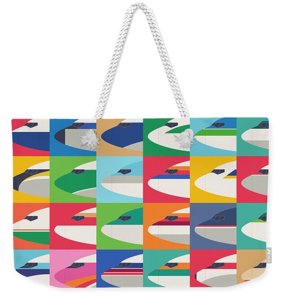 Airline Livery - Small Grid Weekender Tote Bag