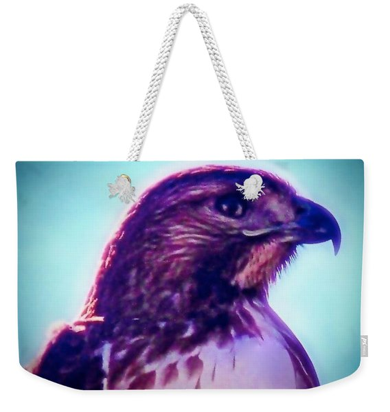 Ak-chin Red-tailed Hawk Portrait Weekender Tote Bag