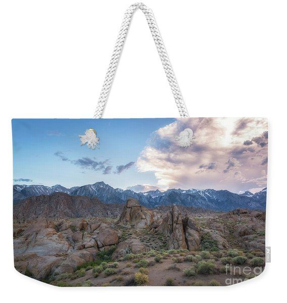 Alabama Hills And Sierra Nevada Mountains Weekender Tote Bag