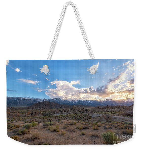 Alabama Hills Sunset  Weekender Tote Bag