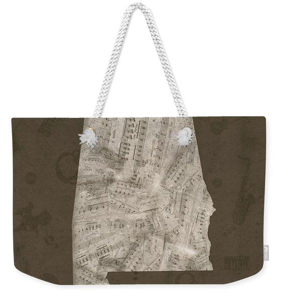 Alabama Map Music Notes 2 Weekender Tote Bag