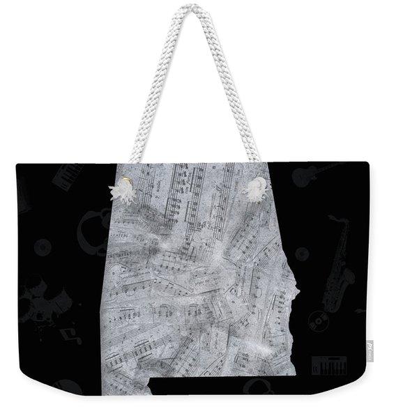 Alabama Map Music Notes 3 Weekender Tote Bag