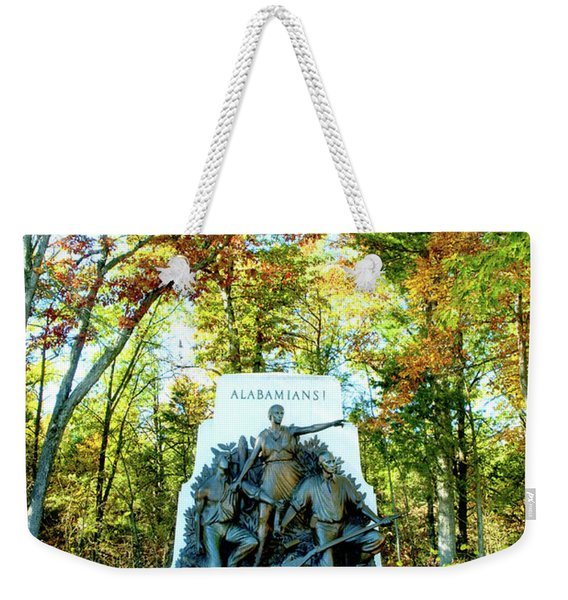 Alabama Monument At Gettysburg Weekender Tote Bag