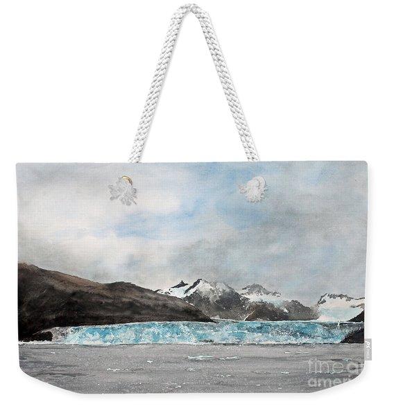 Alaska Ice Weekender Tote Bag